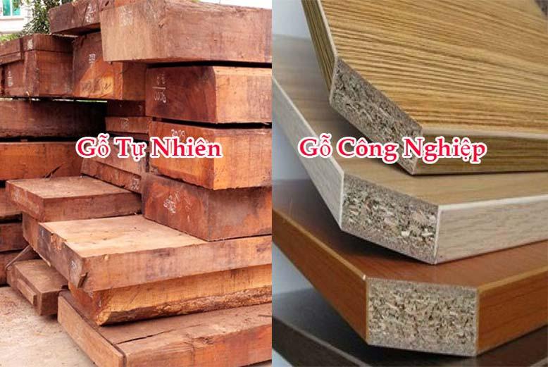 Những điểm khác nhau cơ bản giữa gỗ công nghiệp và gỗ tự nhiên