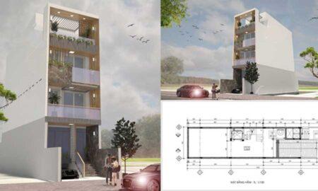 Chiêm ngưỡng mẫu thiết kế nhà phố 4 tầng tại Bình Chánh phong cách hiện đại tuyệt đẹp