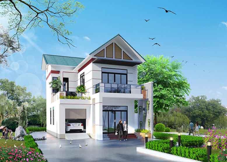 Nhà biệt thự mái Thái