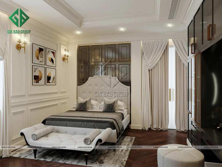 Thi công biệt thự với phòng ngủ đẹp mang lại giấc ngủ ngon