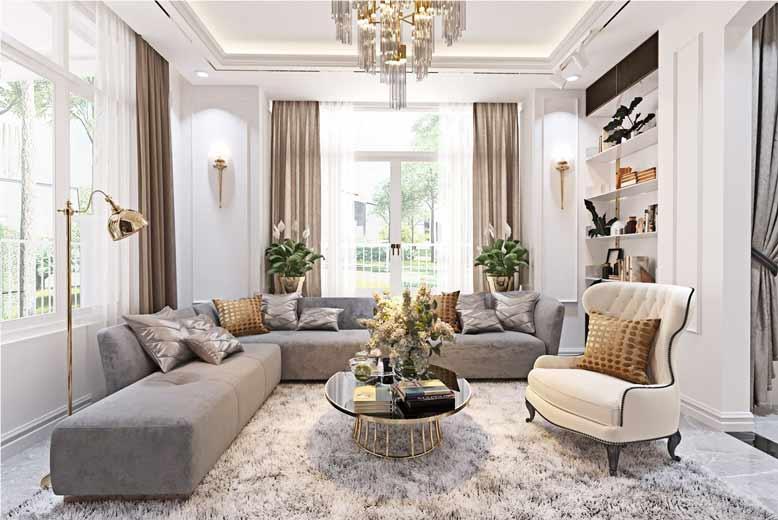 Tham khảo không gian phòng khách được thiết kế đẹp mắt