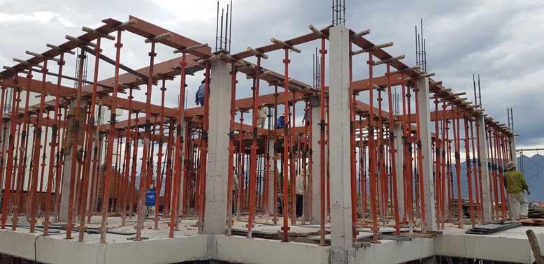 Dự án vào giai đoạn xây dựng móng, khung, cột