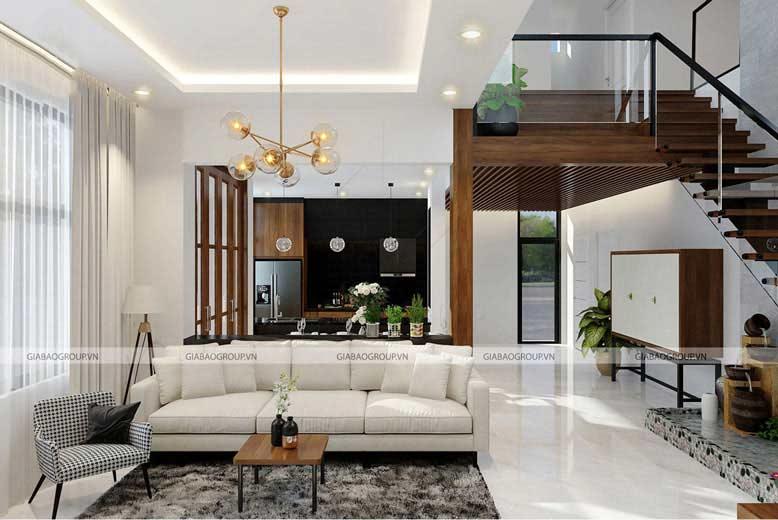 Không gian phòng khách được thi công vô cùng tỉ mỉ