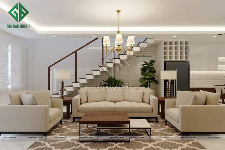 Thiết kế thi công nội thất biệt thự trầm ấm