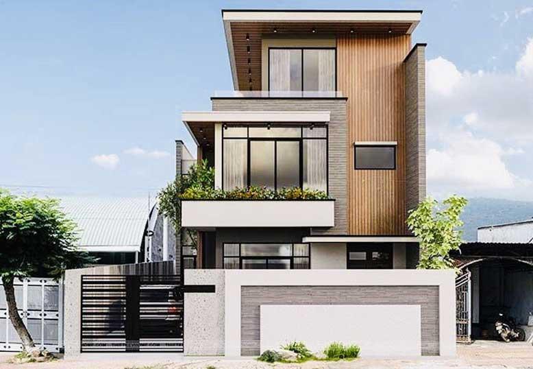 Thiết kế biệt thự hiện đại 3 tầng mái bằng đẹp mắt