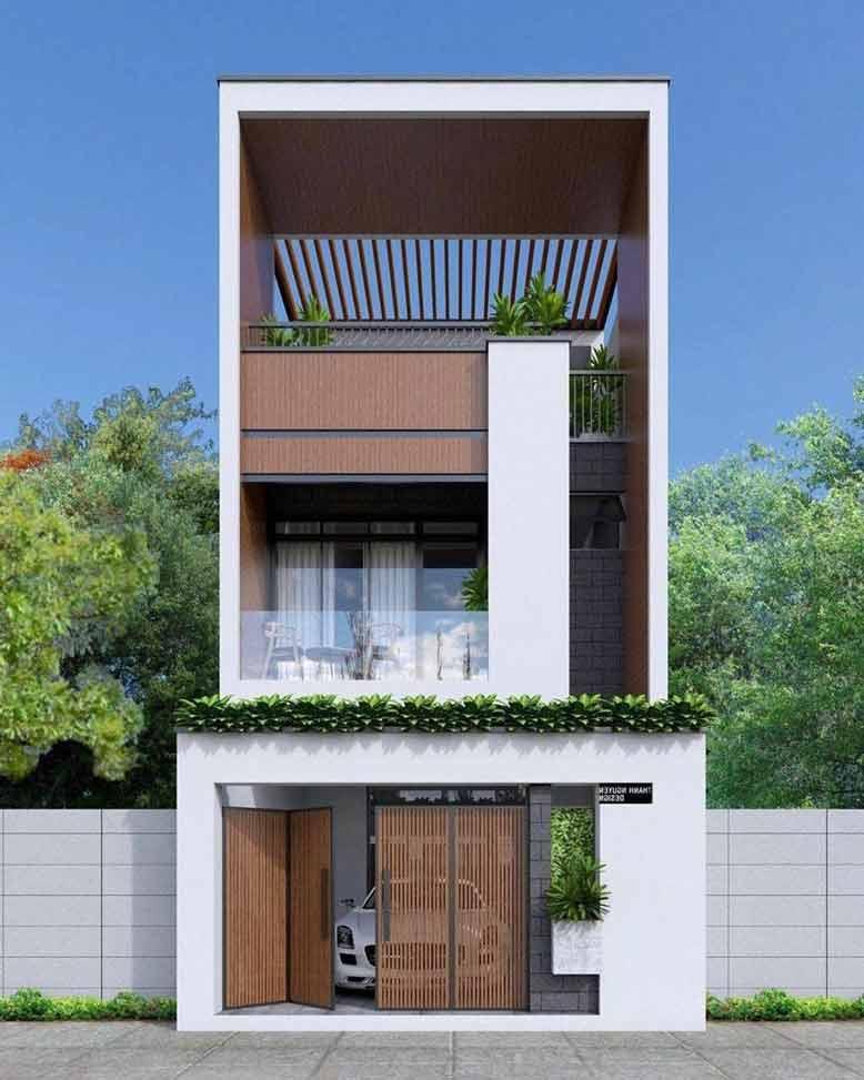 Mẫu nhà phố đẹp được thiết kế gần gũi với thiên nhiên