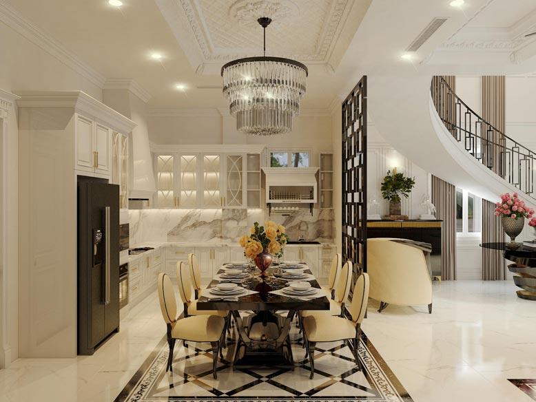 Thiết kế phòng bếp tối giản và tiện nghi