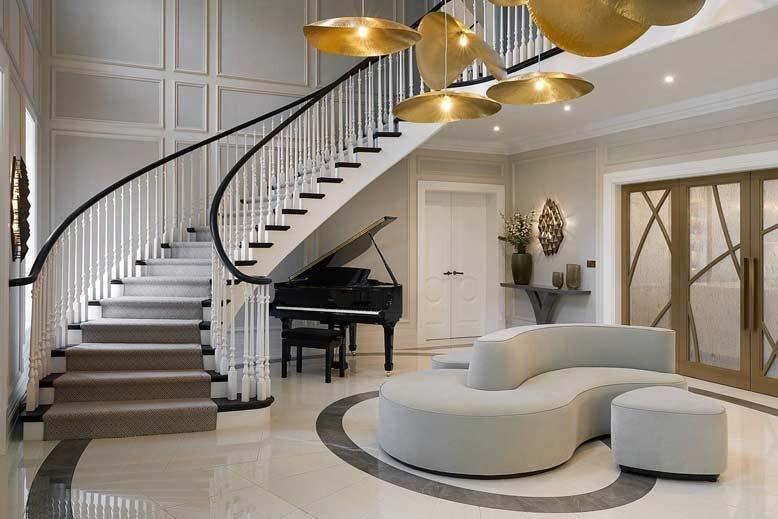 Thiết kế nội thất biệt thự ưu tiên sử dụng các tone màu trung tính