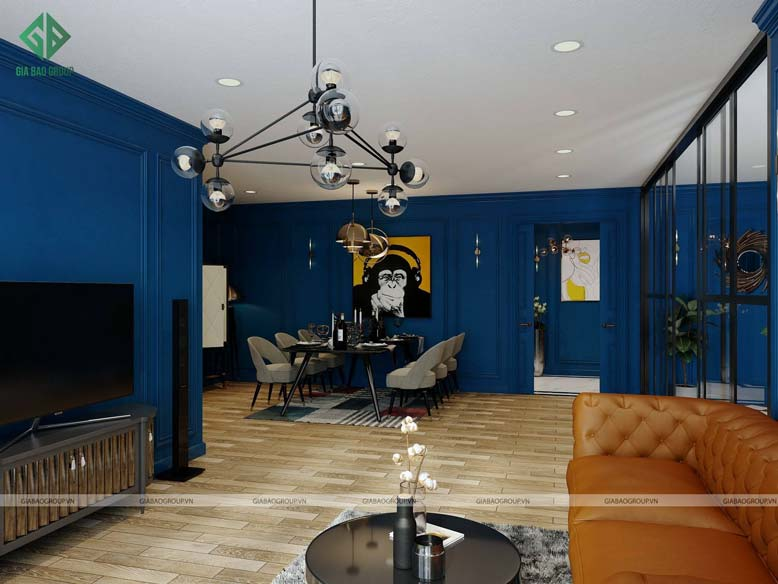 Thiết kế nội thất chung cư tân cổ điển căn hộ Sunrise City quận 7