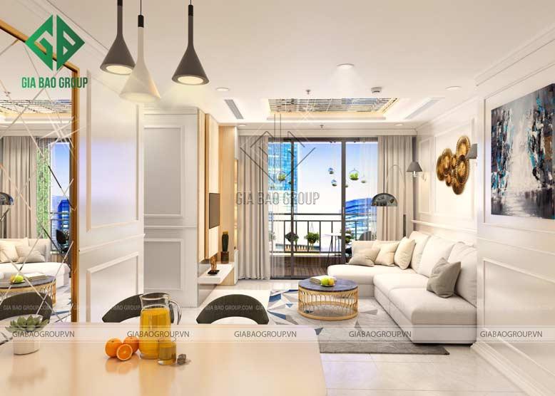 Chọn màu săc tươi sáng giúp không gian nội thất căn hộ chung cư được thoáng đãng hơn