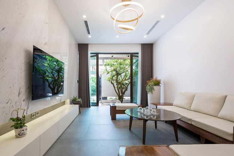 Sử dụng màu sắc sáng với thiết kế tối giản cho mẫu thiết kế nội thất nhà nhỏ