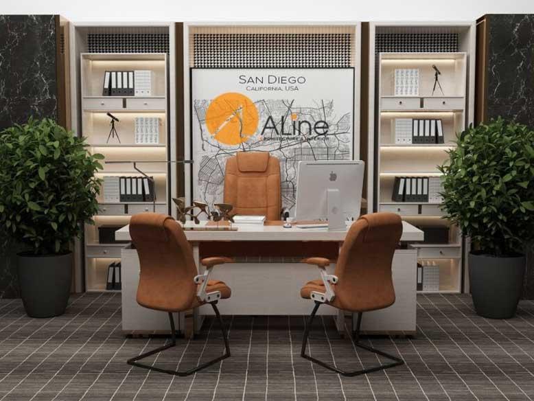 Thiết kế nội thất văn phòng giám đốc phong cách hiện đại cần chọn hướng tốt