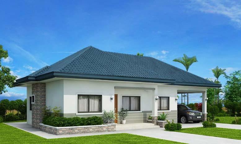 Chiều cao của ngôi nhà sẽ thay đổi theo từng không gian khác nhau