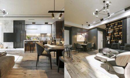 Thiết kế nội thất chung cư phong cách hiện đại- nhà chị Hằng, quận Tân Bình