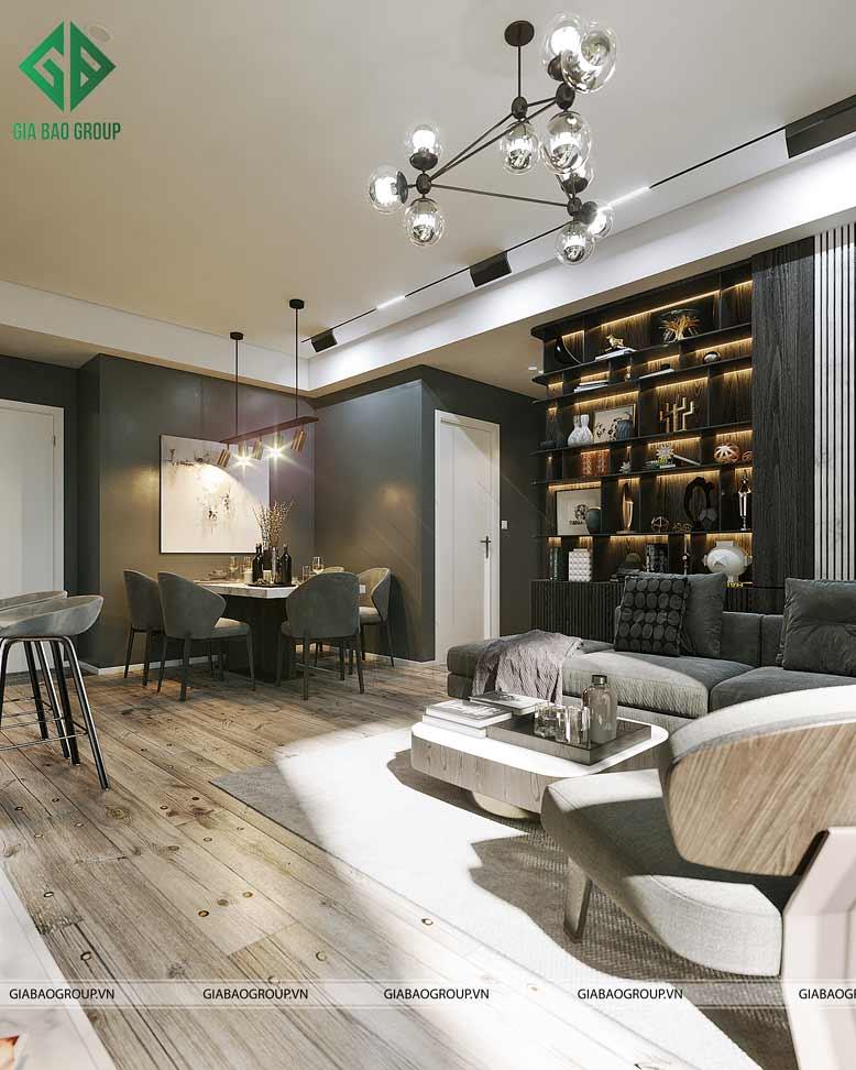 Không gian chung cư sang trọng và hiện đại với gam màu trung tính