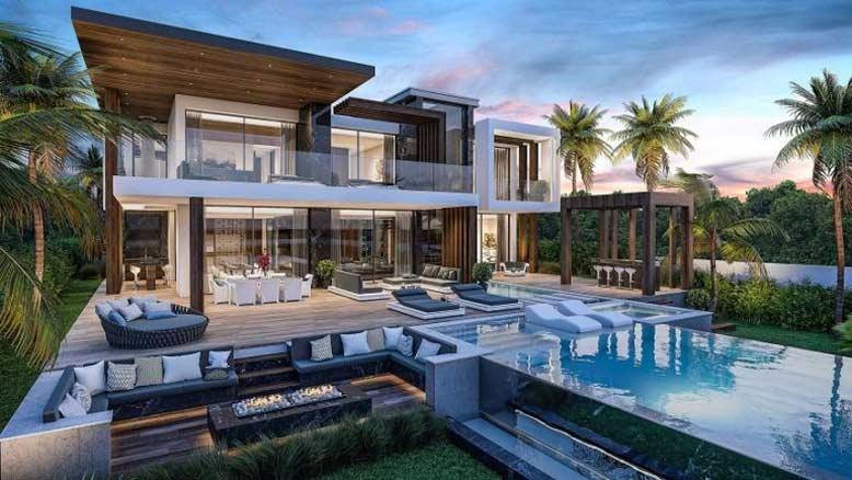 Thiết kế biệt thự có hồ bơi là xu hướng thiết kế hiện nay