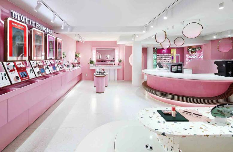 Một số kinh nghiệm thiết kế cửa hàng mỹ phẩm đẹp