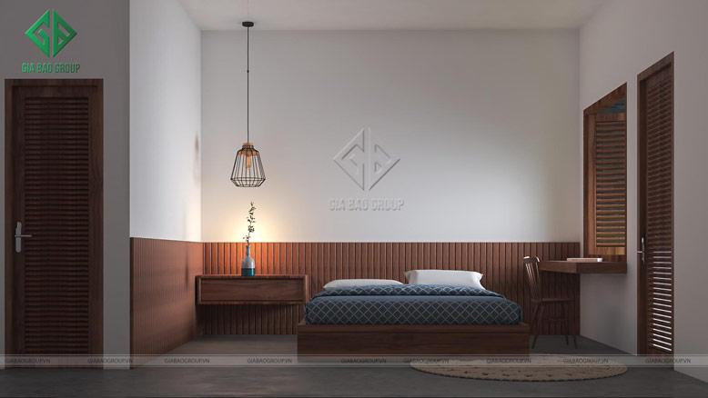 Phòng ngủ được bố trí riêng tư và đơn giản