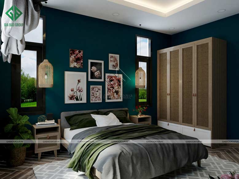 Không gian phòng ngủ được phối cảnh ấn tượng