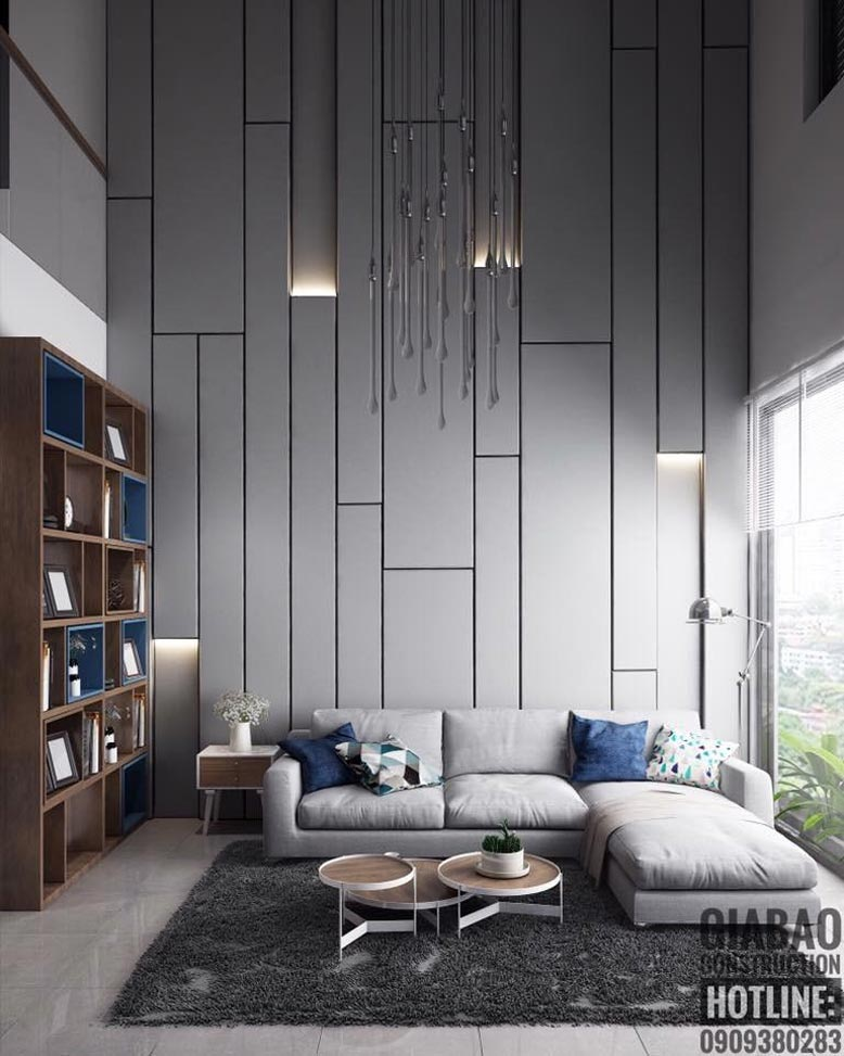 Thiết kế phòng khách ấn tượng và độc đáo