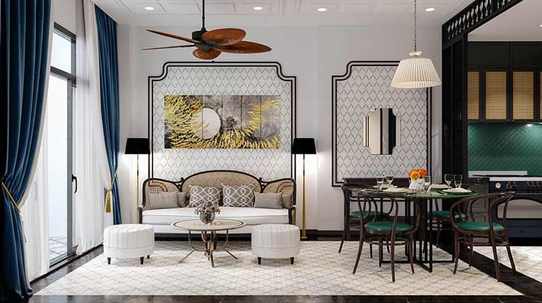 Thiết kế nội thất nhà phố với phong cách mới mẻ