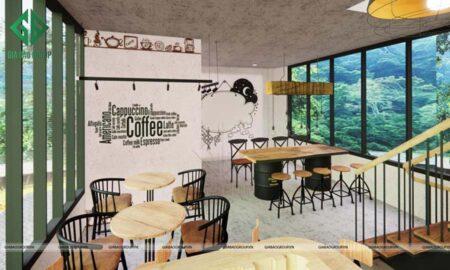 Thiết kế nội thất quán cafe kết hợp nhà ở, nhà chị My – Thủ Đức