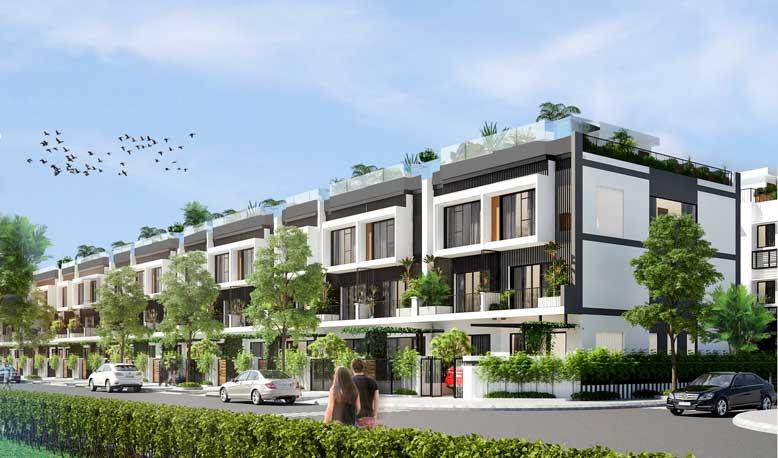 Nhà liền kề là những căn nhà có kiến trúc giống nhau nằm sát cạnh nhau