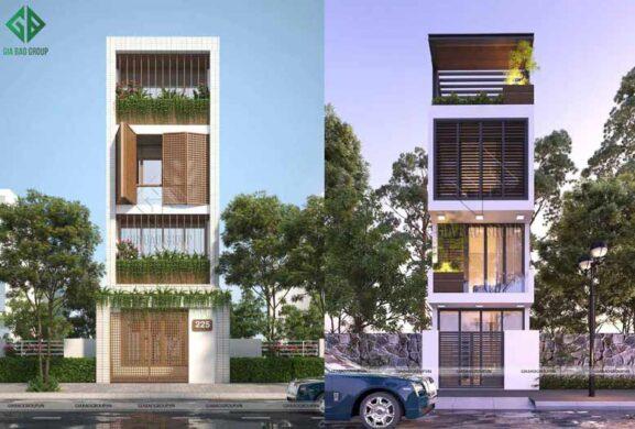 Thi công xây dựng nhà phố 5x20m hiện đại