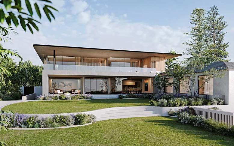 Thiết kế biệt thự nhà vườn mái bằng