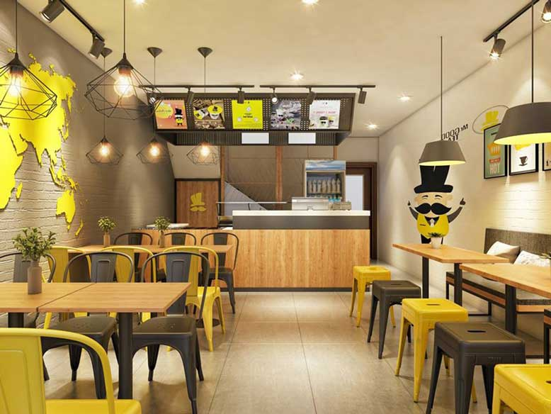 Ánh sang trong thiết kế nội thất quán ăn là quan trọng nhất