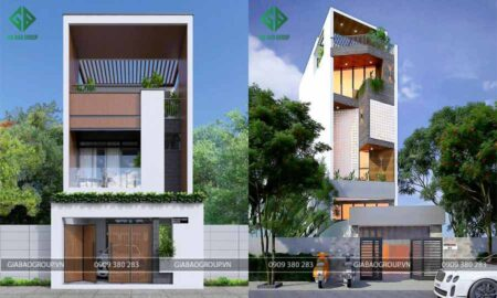 Thiết kế nhà phố hiện đại giá rẻ