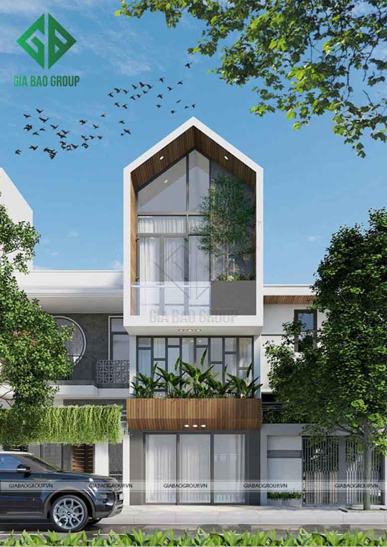 Thi công xây dựng nhà phố hiện đại giá rẻ còn phụ thuộc vào diện tích xây dựng