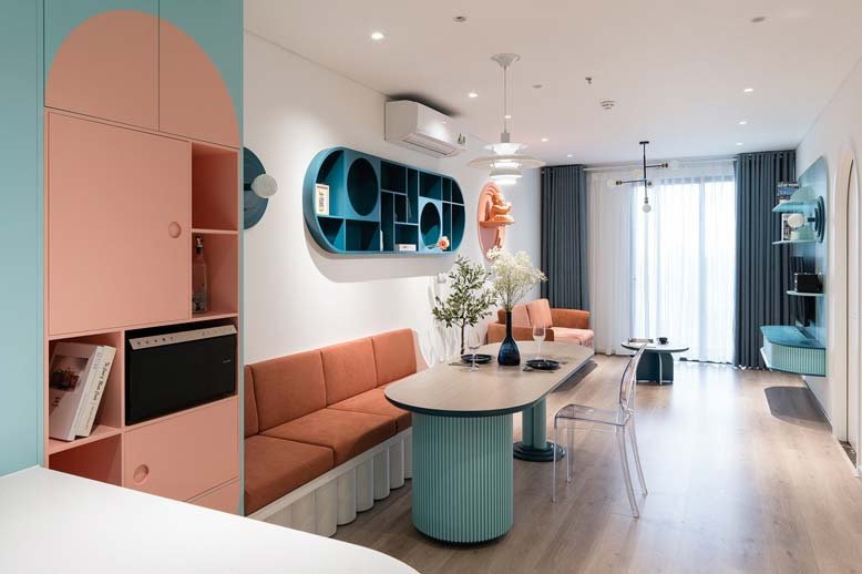 Khi thiết kế nội thất chung cư bạn nên chú ý đến màu sắc và ánh sáng
