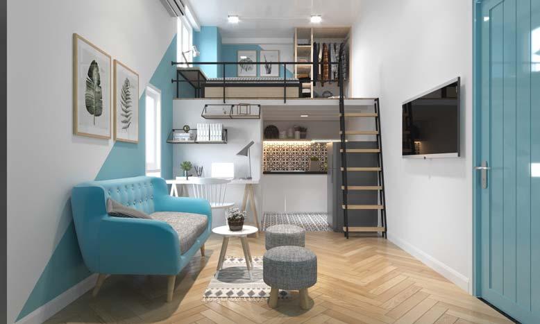 Thiết kế nội thất chung cư mini 20m2