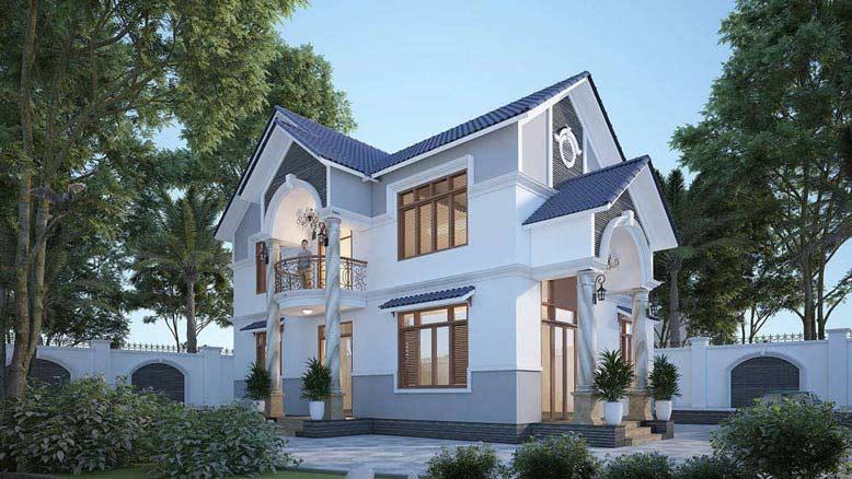 Thiết kế biệt thự mái thái đầy sáng tạo và đẹp mắt