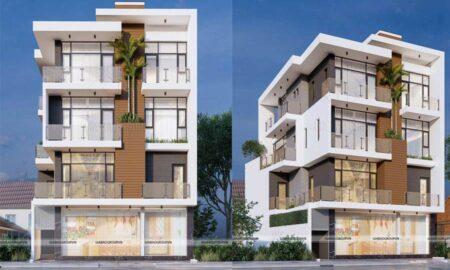 Mẫu nhà phố 4 tầng đẹp hiện đại – chị Diệu Hiền, TP Sa Đéc, Đồng Tháp