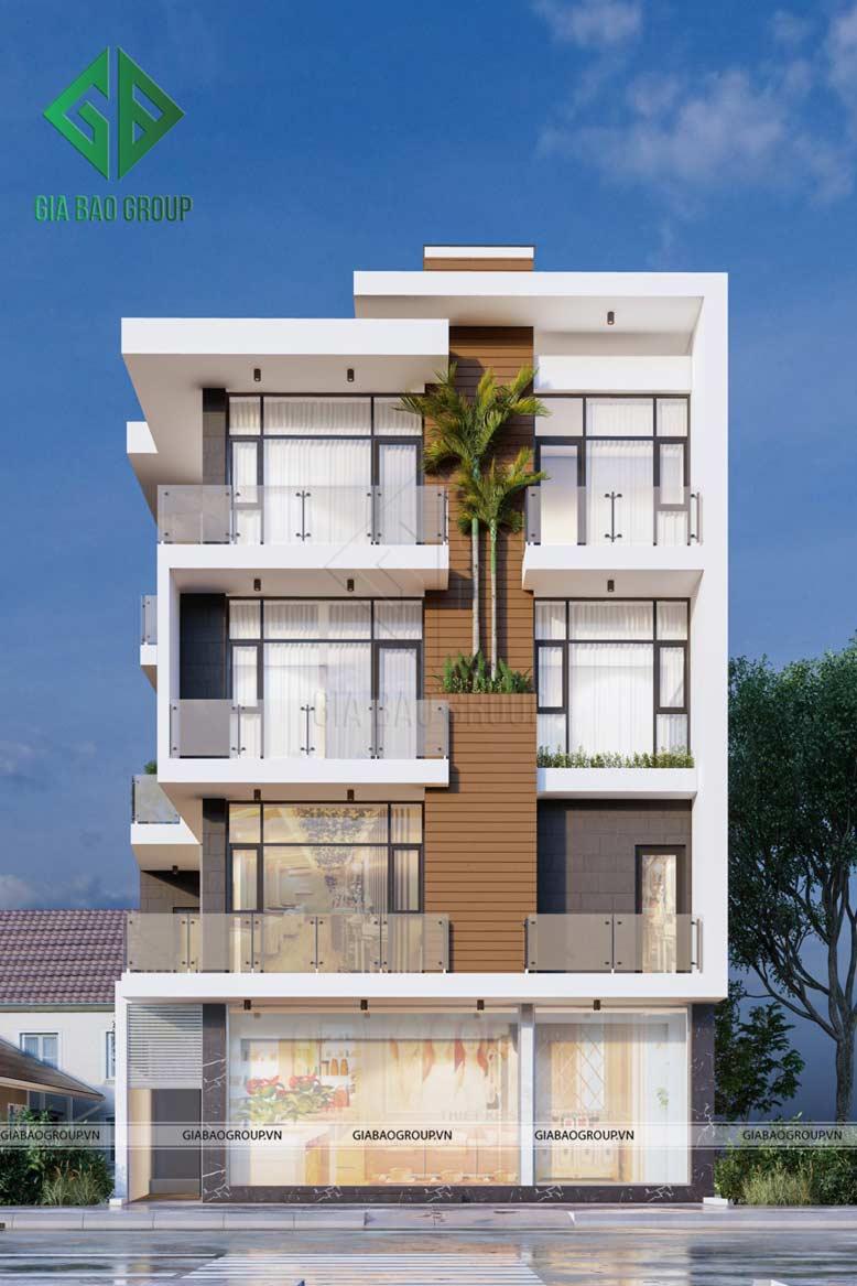 Mẫu nhà phố 4 tầng đẹp tại Thành Phố Sa Đét