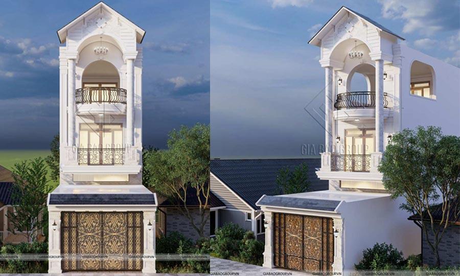 Thiết kế nhà 3 tầng tân cổ điển