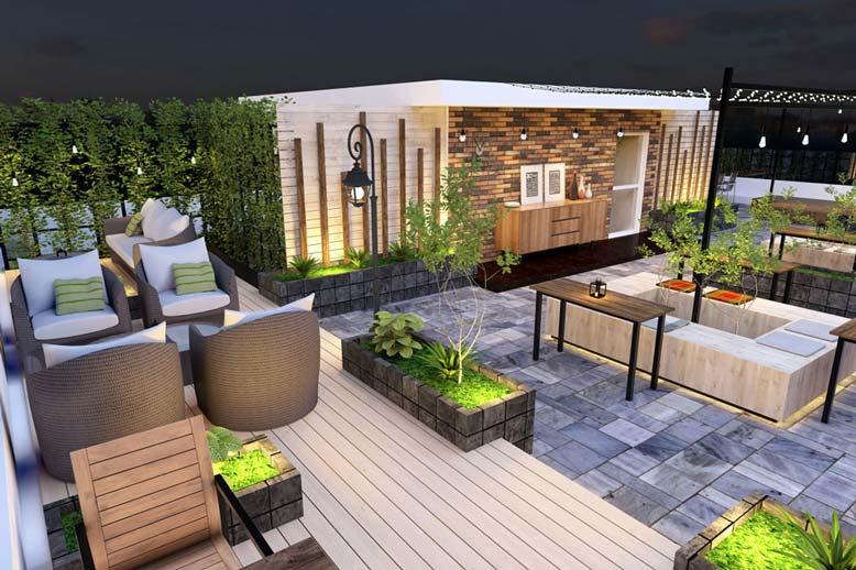 Ý tưởng thiết kế quán cafe sân thượng