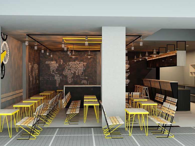 Thiết kế quán cafe vỉa hè bình dân