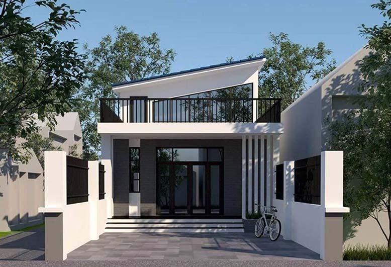 nhà 1 tầng hiện đại có xây thêm tầng tum