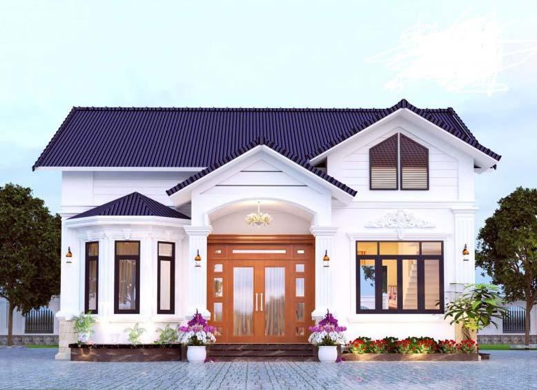 Thiết kế nhà 1 tầng 1 tum hiện đại đẹp
