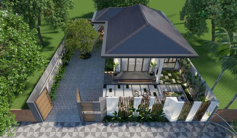 Nhà vườn 1 tầng là mẫu nhà mà nhiều gia chủ muốn có