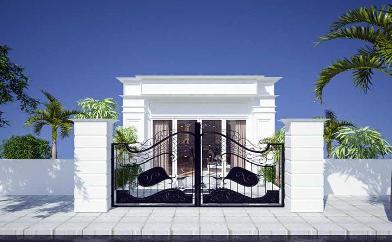 Mẫu nhà 1 tầng với gam trắng tinh tế, thanh nhã
