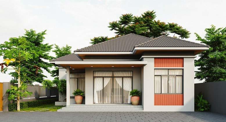 Nhà 1 tầng mái Nhật kiến trúc hiện đại đơn giản