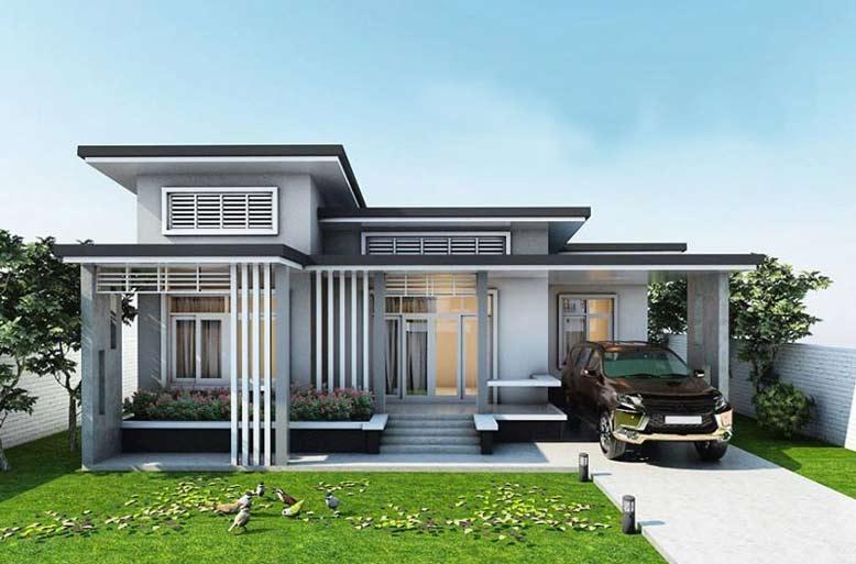 Thiết kế nhà 1 tầng mái bằng giúp bạn tiết kiệm nhiều chi phí