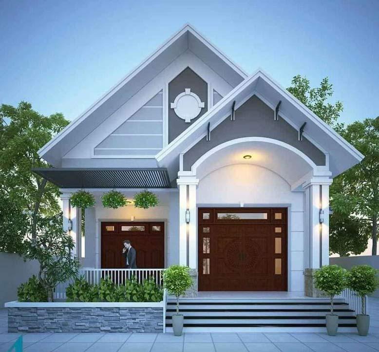 Mẫu nhà 1 tầng thiết kế kiến trúc đẹp