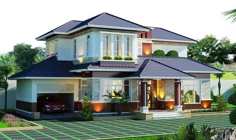 Vật liệu chủ yếu để thiết kế nhà 2 tầng