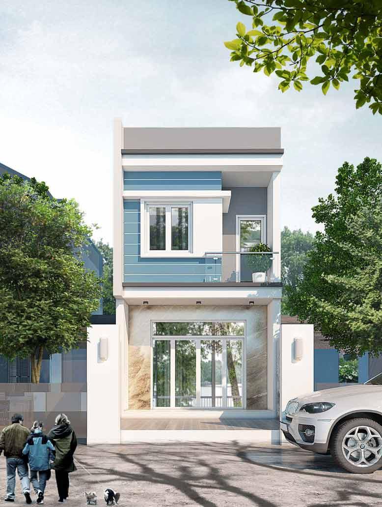 Thiết kế nhà 2 tầng kết hợp không gian mở