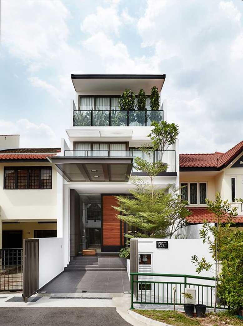 Các mẫu nhà mái bằng thường thiết kế theo phong cách hiện đại